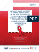 Informe Nacional Sobre El Estado de Situacion Del Vih 2013