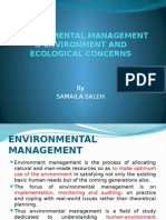 ENVIRONMENTAL MANAGEMENT & ENVIRONMENT AND ECOLOGICAL CONCERNS