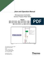Manual de Instalación y Funcionamiento BAÑO de MARIA PRECISION MODELO 2841