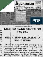 Prorogue History Canada