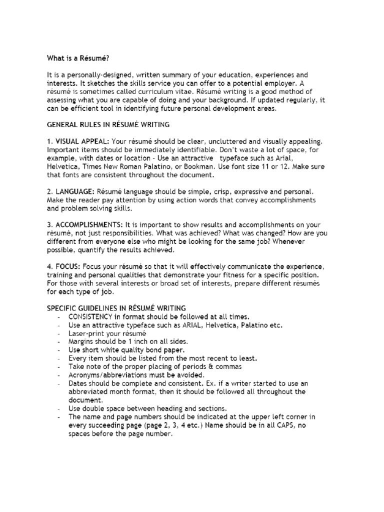 Resume Dlsu Format