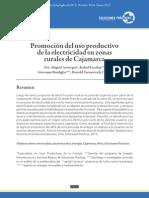 Promoción del uso productivo de la electricidad en zonas rurales de Cajamarca