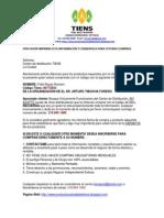 AUTORIZACION COMPRA PRODUCTOS TIENS COLOMBIA