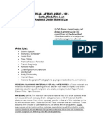 vac-2015 regional material list