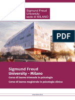 Sigmund Freud University Milano - Brochure 2015