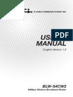 Blw-54cw3 Manual v1.2 Eng