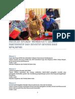 Panduan Singkat Membangun Gagasan Secara Partisipatif Dan Berbasis Gender Bagi Kpm