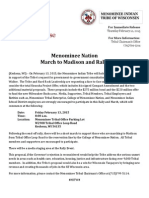Menominee to march in Madison for meeting w/Governor Walker