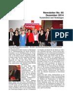Dezember 2014 (Ausgabe Nr. 65)