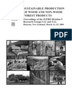 Sustainable production of wood and non-wood forest products