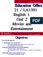Unit 2 Movies and Entertainment