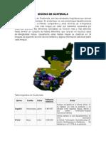 Idiomas y Gastronomia de Guatemala