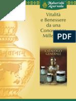 Catalogo Ayurveda