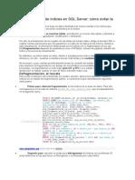 Mantenimiento de Índices en SQL Server