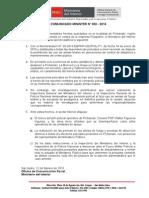 Cominicado Mininter Pichanaki 12-02-15