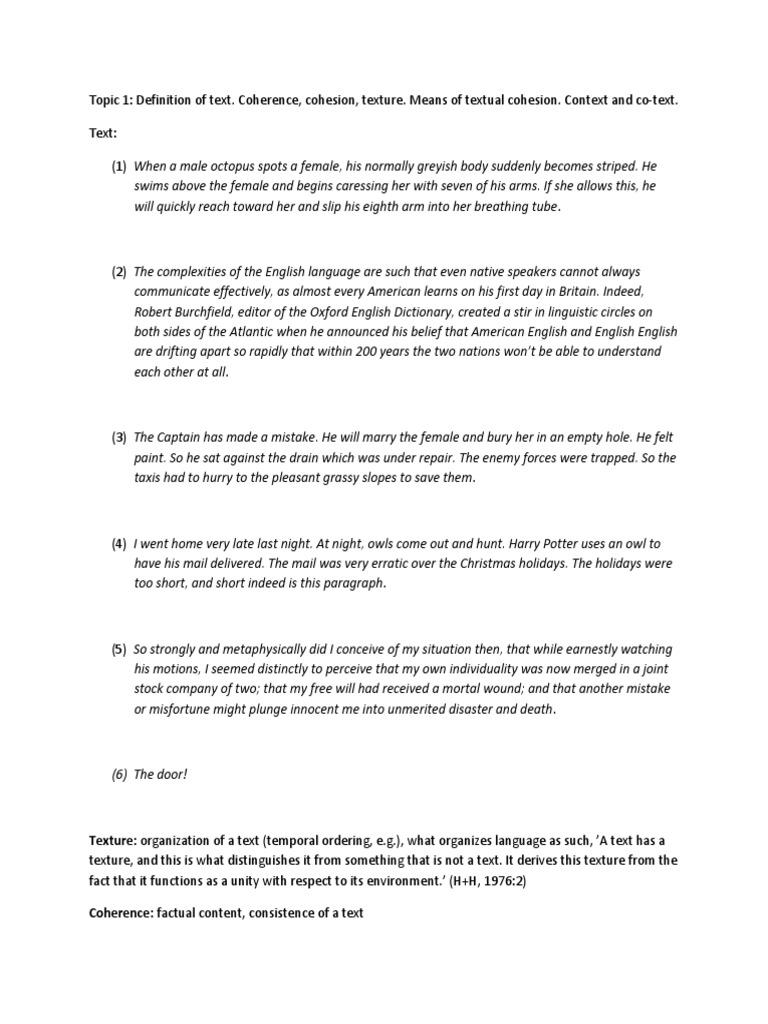 Texture Pragmatics | Context (Language Use) | Sentence (Linguistics)