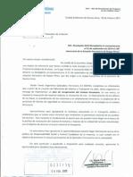 Nota al Diputado Alberto Asseff en agredecimiento por proyecto de aniversario de estación ferroviaria de Roque Pérez