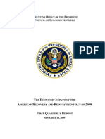 Council of Economic Advisors Economic Impact of ARRA - First Quarterly Report 09-10-2009