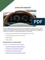 Panel de Instrumentos Del Automóvil