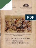 Manual de Elaboración de Dulces y Panelitas de Leche
