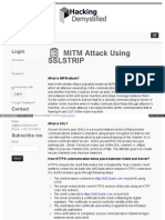 Hackingdemystified Com Mitm Attack Using Sslstrip