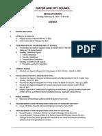 February 17 2015 Complete Agenda