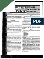 Zakon o Bibliotečkim Djelatnostima Ze-Do Kantona