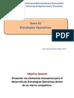 Estrategias Operativas - GERENCIA DE OPERACIONES Y PROCESOS