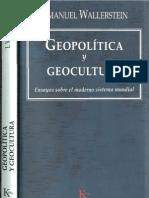 Wallerstein Inmanuel - Geopolitica Y Geocultura