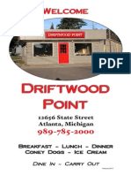 driftwood point menu