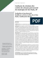 Avaliação da estrutura dos centros de atenção psicossocial do município de São Paulo, SP