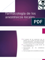 Farmacología de Los Anestésicos Locales