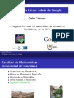 Algebra Lineal Detrás de Google