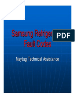 Samsung Refrigeration Fault Codes