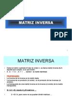 Matriz Inversa Determinantes