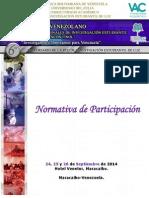 Normativa Participacion Congreso Redieluz 2014