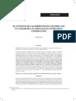EL CONTEXTO DE LAS SERPIENTES DE COLOMBIA CON UN ANÁLISIS DE LAS AMENAZAS EN CONTRA DE SU CONSERVACIÓN (1).pdf