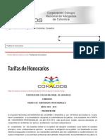 Tarifas de Honorarios _ 2013 © Conalbos