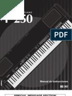 Manual Yamaha P250S1