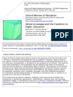 School Processes and the Transition to Higher Education