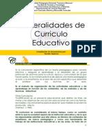 Generalidades de Curriculo Educativo