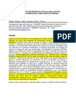 Cultivo Heterotrófico de Microalga Chlorella Vulgaris CPCC90 Utilizando Sacarose Hidrolisada Como Fonte de Carbono Orgânico