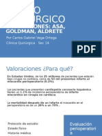 Valoraciones Asa, Goldman, Aldrete