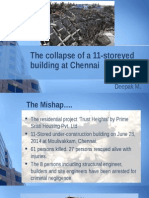 The Collapse of a 11-Storeyed Building at Chennai