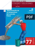 Determinacion de la temperatura del concreto fresco
