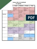 us history calendar timberline 2014-15-1
