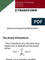 Z-transform (Equation & Definition of Terms)