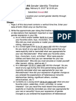 Journal #4 Gender Identity Timeline