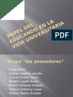 Papel Del Educando en La Vida Universitaria