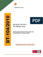 DT 104.2010 r03 - Instruções para instalações de Geradores Particulares.pdf